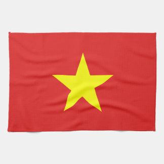 ベトナムの旗-黄色い星- キッチンタオル