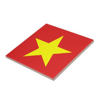 ベトナムの旗-黄色い星- タイル