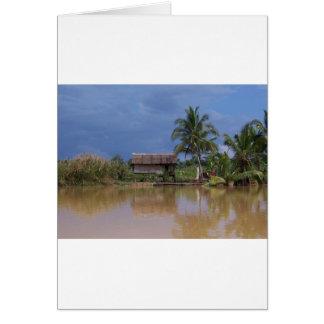 ベトナムの村の水辺地帯 カード