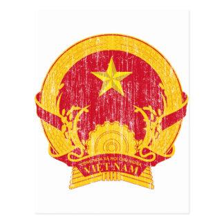 ベトナムの紋章付き外衣 ポストカード