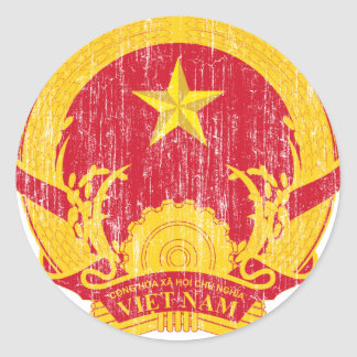 ベトナムの紋章付き外衣 ラウンドシール