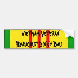 ベトナムの退役軍人Beaucoup Dinky Dau バンパーステッカー
