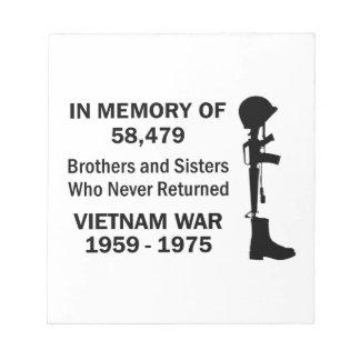 ベトナムを記念して ノートパッド