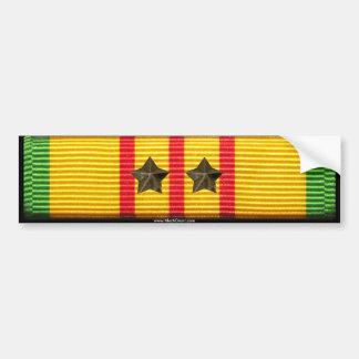 ベトナムサービスリボン- 2つのキャンペーン星 バンパーステッカー