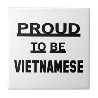 ベトナム語があること誇りを持った 正方形タイル小