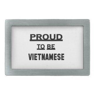 ベトナム語があること誇りを持った 長方形ベルトバックル