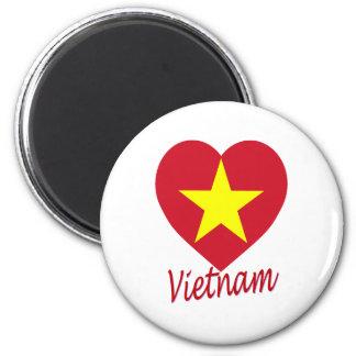 ベトナム(北)の旗のハート マグネット