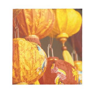 ベトナム、Hoi大きいランタン、記念品 ノートパッド