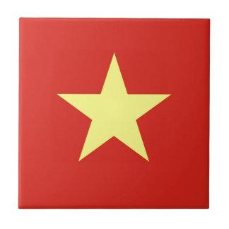 ベトナム- Quốcのkỳ Việt Namの旗 正方形タイル小