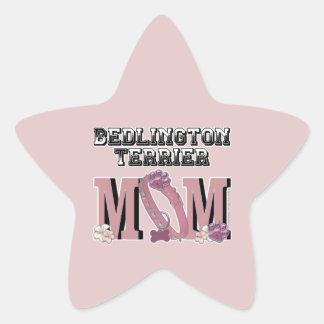 ベドリントン・テリアのお母さん 星シール