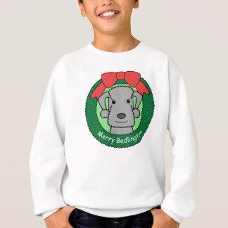 ベドリントン・テリアのクリスマス スウェットシャツ