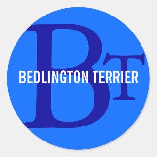 ベドリントン・テリアの品種モノグラム ラウンドシール