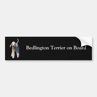 ベドリントン・テリアの船上にカスタムなバンパーステッカー バンパーステッカー