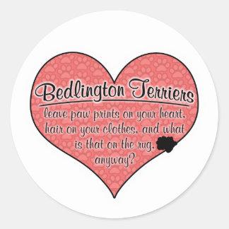 ベドリントン・テリアの足は犬のユーモアを印刷します ラウンドシール