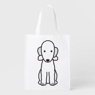 ベドリントン・テリア犬の漫画 エコバッグ