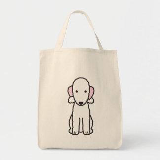 ベドリントン・テリア犬の漫画 トートバッグ