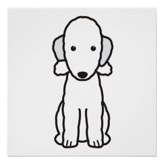 ベドリントン・テリア犬の漫画 ポスター