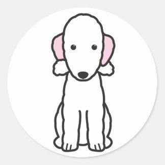 ベドリントン・テリア犬の漫画 ラウンドシール