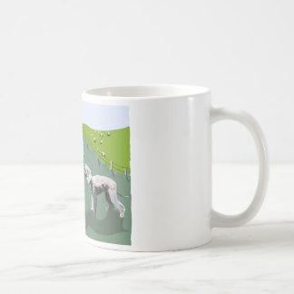 ベドリントン・テリア-あなたの英雄に会うこと コーヒーマグカップ
