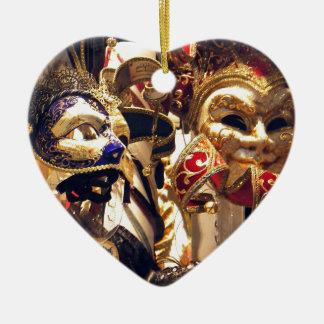ベニスからのカーニバルのマスク セラミックオーナメント
