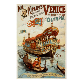 ベニスのイムレKiralfyの豪華な生産 ポスター