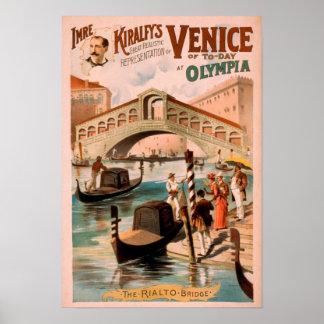 ベニスのオリンピアのゴンドラ3の海の花嫁 ポスター