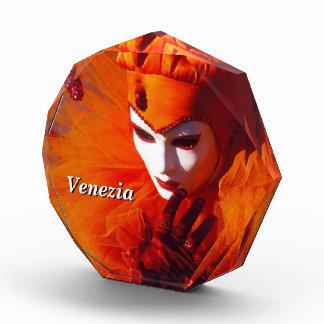 ベニスのカーニバルのオレンジの道化師 表彰盾