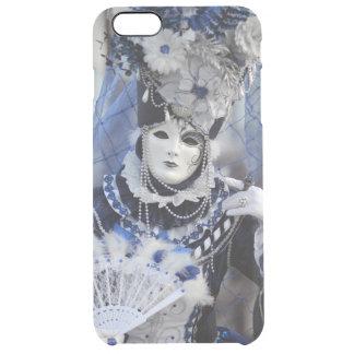 ベニスのカーニバルの女性With Blue Costume クリア iPhone 6 Plusケース