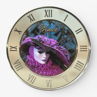 ベニスのカーニバル ラージ壁時計