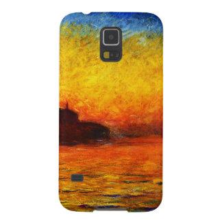 ベニスのクロウドのMonet日没 Galaxy S5 ケース