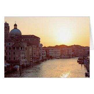 ベニスのグランデ運河の日没 カード
