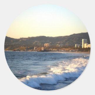 ベニスのビーチから見られるサンタモニカ桟橋 ラウンドシール