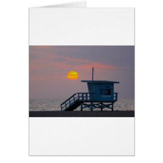 ベニスのビーチの日没 カード