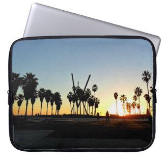ベニスのビーチの日没 コンピューター用スリーブケース