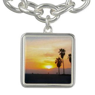 ベニスのビーチカリフォルニア日没の記念品 チャームブレスレット