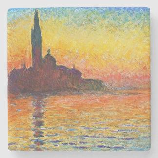 ベニスの印象派の芸術のクロード・モネの日没 ストーンコースター