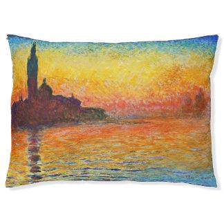 ベニスの印象派の芸術のクロード・モネの日没 ペットベッド