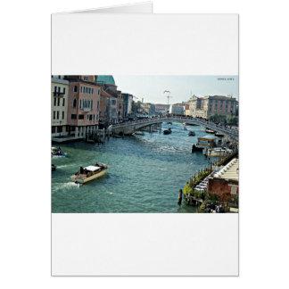 ベニスの水路ベニスイタリア カード