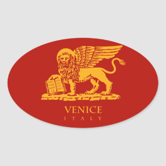 ベニスの紋章付き外衣 楕円形シール