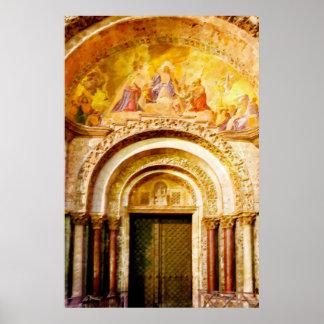 ベニスの聖者印のバシリカ会堂の入口 ポスター