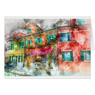 ベニスの近くのBuranoイタリアの家 カード