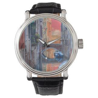 ベニスイタリアのカラフルな印象 腕時計