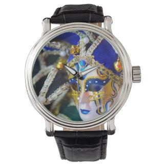 ベニスイタリアのカーニバルのマスク 腕時計
