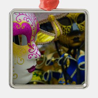 ベニスイタリアのカーニバルの仮面舞踏会のマスク メタルオーナメント