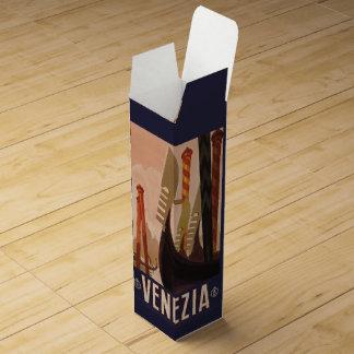 ベニスイタリアのヴィンテージ旅行カスタムのワイン用化粧箱 ワインギフトボックス