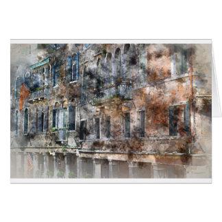 ベニスイタリアの建物 カード