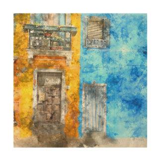 ベニスイタリアの近くのBuranoイタリア ウッドウォールアート