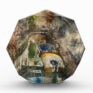 ベニスイタリアの運河のボート 表彰盾