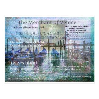 ベニスシェークスピアの引用文の商人 ポストカード