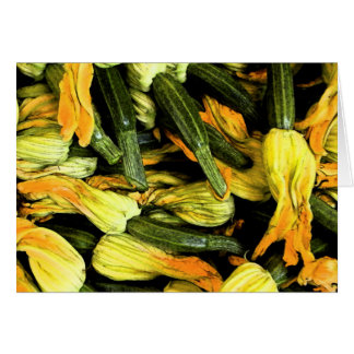 ベニス家庭でカード-ズッキーニの花 カード